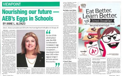 Nourishing Our Future: AEB's Eggs in Schools