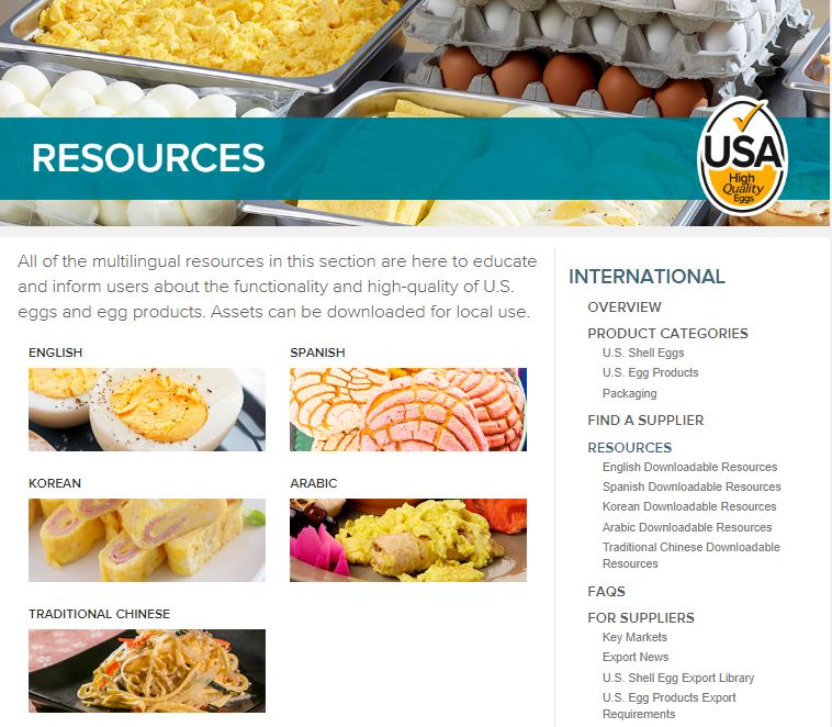 Why the U.S. Washes and Refrigerates Eggs: AEB Multilingual Resources to Promote U.S. Eggs