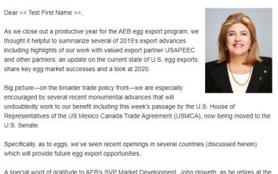 2019 Egg Exports Recap and Look Ahead