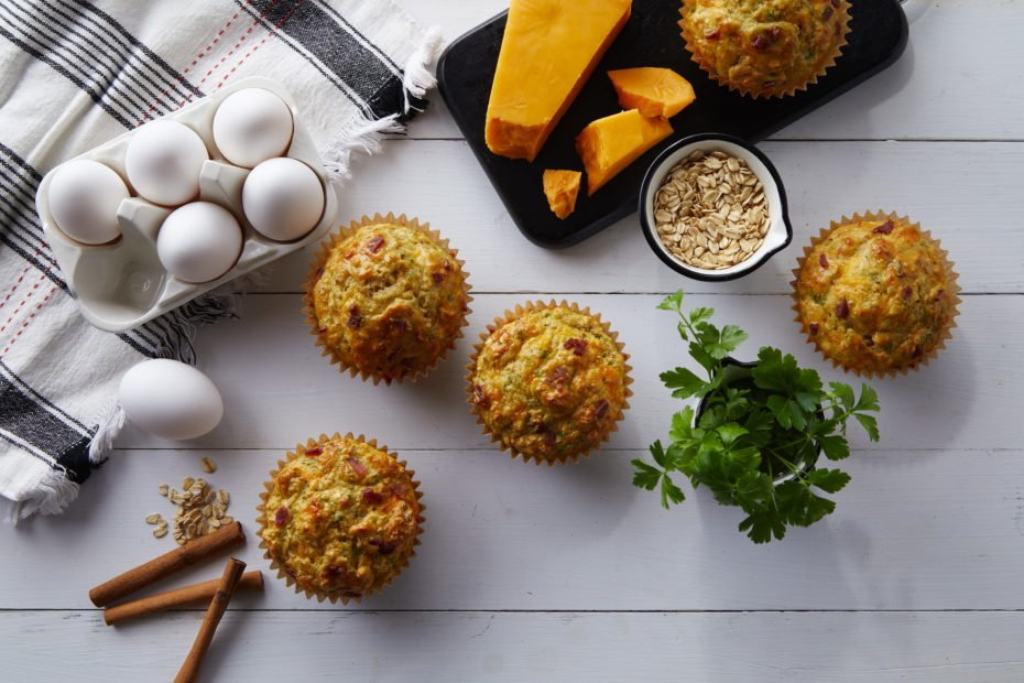 Bacon Cheddar Breakfast Muffins