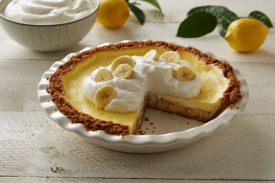 Bananas Foster Cream Cheese Pie