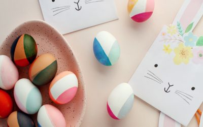 Color-Blocked Eggs