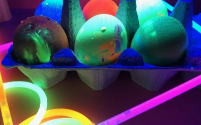 Neon Glow-in-the-Dark Eggs