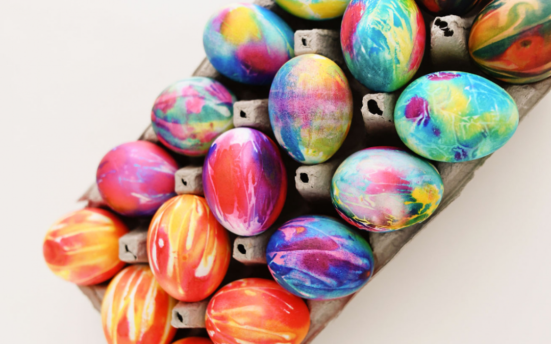 Tie-Dye Eggs