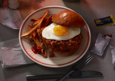 Sloppy Joes with Eggs