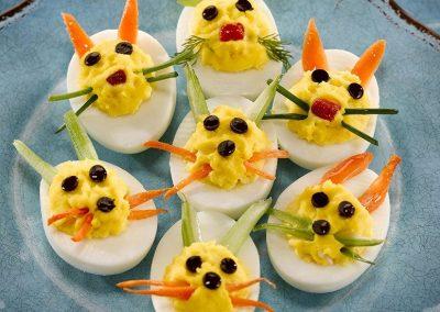 Deviled Bunny Eggs