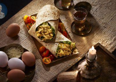 Caesar Egg Salad Wraps