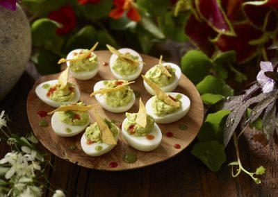 Guac Deviled Eggs