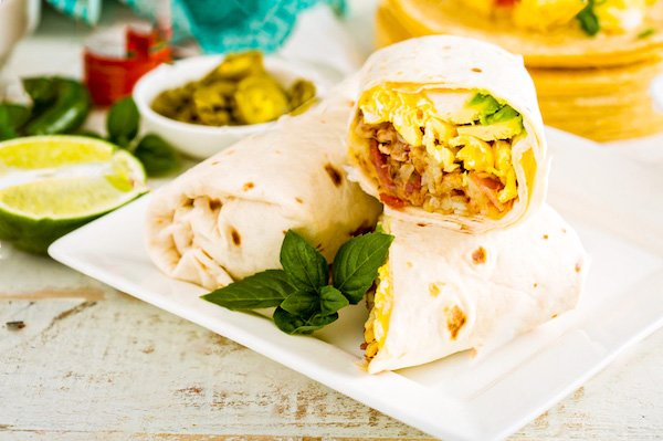 Egg Tortilla Roll up