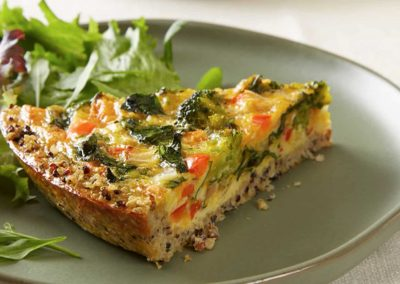 Quinoa Crust Vegetable Quiche