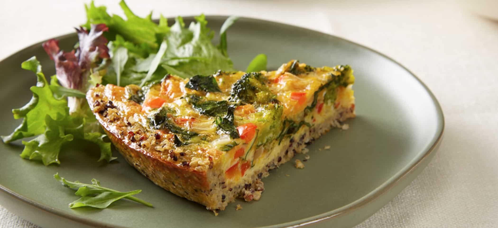 Quinoa Crust Vegetable Quiche